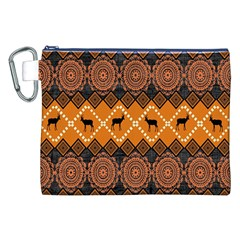Traditiona  Patterns And African Patterns Canvas Cosmetic Bag (xxl)