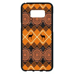 Traditiona  Patterns And African Patterns Samsung Galaxy S8 Plus Black Seamless Case