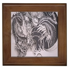 Chinese Dragon Tattoo Framed Tiles