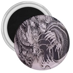 Chinese Dragon Tattoo 3  Magnets