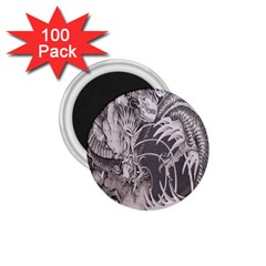 Chinese Dragon Tattoo 1 75  Magnets (100 Pack)