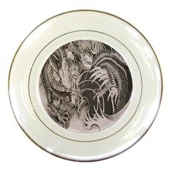 Chinese Dragon Tattoo Porcelain Plates