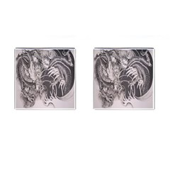 Chinese Dragon Tattoo Cufflinks (square)