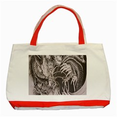 Chinese Dragon Tattoo Classic Tote Bag (red)