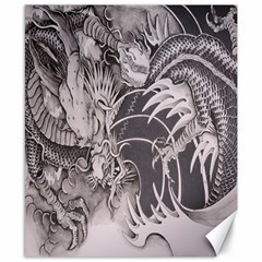 Chinese Dragon Tattoo Canvas 8  X 10