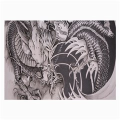 Chinese Dragon Tattoo Large Glasses Cloth
