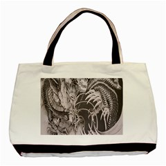 Chinese Dragon Tattoo Basic Tote Bag (two Sides)
