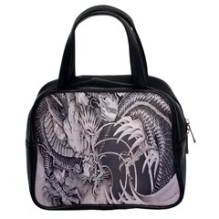 Chinese Dragon Tattoo Classic Handbags (2 Sides)