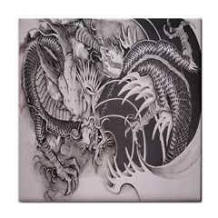 Chinese Dragon Tattoo Face Towel