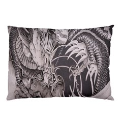 Chinese Dragon Tattoo Pillow Case