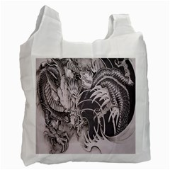 Chinese Dragon Tattoo Recycle Bag (two Side)
