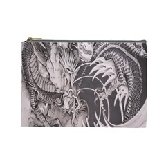 Chinese Dragon Tattoo Cosmetic Bag (large)