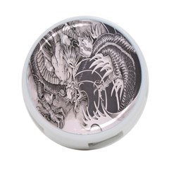 Chinese Dragon Tattoo 4 Port Usb Hub (one Side)