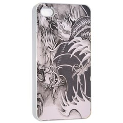 Chinese Dragon Tattoo Apple Iphone 4/4s Seamless Case (white)