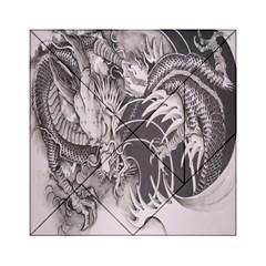 Chinese Dragon Tattoo Acrylic Tangram Puzzle (6  X 6 )