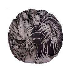 Chinese Dragon Tattoo Standard 15  Premium Round Cushions