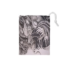 Chinese Dragon Tattoo Drawstring Pouches (small)
