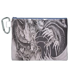 Chinese Dragon Tattoo Canvas Cosmetic Bag (xl)