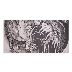 Chinese Dragon Tattoo Satin Shawl