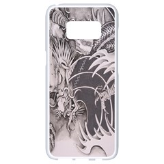 Chinese Dragon Tattoo Samsung Galaxy S8 White Seamless Case