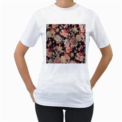 Japanese Ethnic Pattern Women s T Shirt (white) (two Sided)