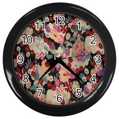 Japanese Ethnic Pattern Wall Clocks (black)