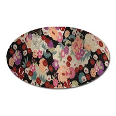 Japanese Ethnic Pattern Oval Magnet