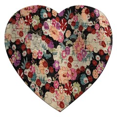 Japanese Ethnic Pattern Jigsaw Puzzle (heart)