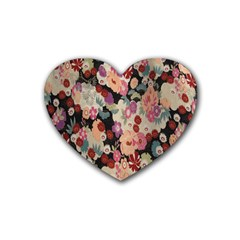 Japanese Ethnic Pattern Heart Coaster (4 Pack)