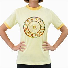Zodiac  Institute Of Vedic Astrology Women s Fitted Ringer T Shirts