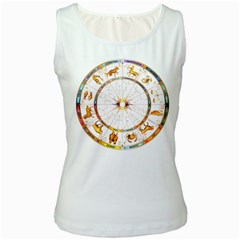 Zodiac  Institute Of Vedic Astrology Women s White Tank Top