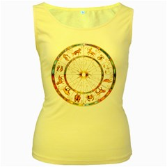 Zodiac  Institute Of Vedic Astrology Women s Yellow Tank Top