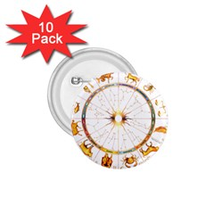Zodiac  Institute Of Vedic Astrology 1 75  Buttons (10 Pack)