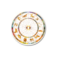 Zodiac  Institute Of Vedic Astrology Magnet 3  (round)