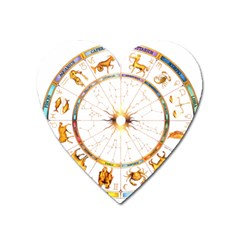 Zodiac  Institute Of Vedic Astrology Heart Magnet