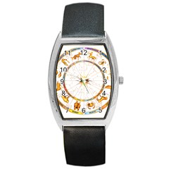 Zodiac  Institute Of Vedic Astrology Barrel Style Metal Watch