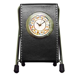Zodiac  Institute Of Vedic Astrology Pen Holder Desk Clocks