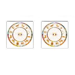 Zodiac  Institute Of Vedic Astrology Cufflinks (square)