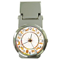 Zodiac  Institute Of Vedic Astrology Money Clip Watches
