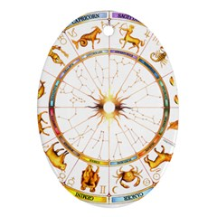Zodiac  Institute Of Vedic Astrology Oval Ornament (two Sides)