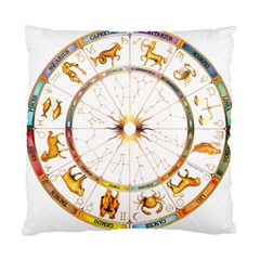 Zodiac  Institute Of Vedic Astrology Standard Cushion Case (two Sides)