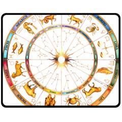 Zodiac  Institute Of Vedic Astrology Fleece Blanket (medium)