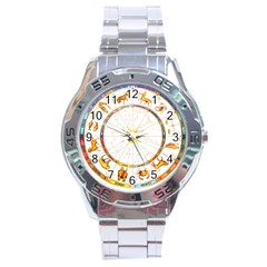 Zodiac  Institute Of Vedic Astrology Stainless Steel Analogue Watch