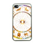 Zodiac  Institute Of Vedic Astrology Apple iPhone 4 Case (Clear) Front