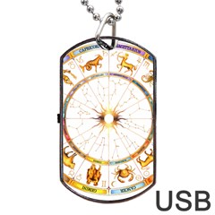 Zodiac  Institute Of Vedic Astrology Dog Tag Usb Flash (one Side)