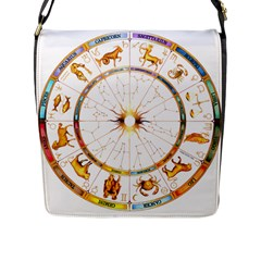 Zodiac  Institute Of Vedic Astrology Flap Messenger Bag (l)