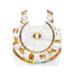 Zodiac  Institute Of Vedic Astrology Full Print Recycle Bags (m)