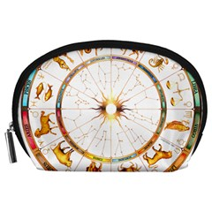 Zodiac  Institute Of Vedic Astrology Accessory Pouches (large)
