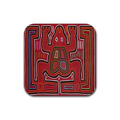 Frog Pattern Rubber Coaster (square)