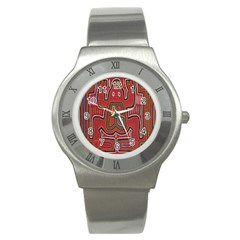Frog Pattern Stainless Steel Watch